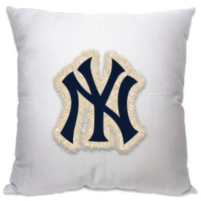 MLB New York Yankees 18-Inch Letterman Toss Pillow