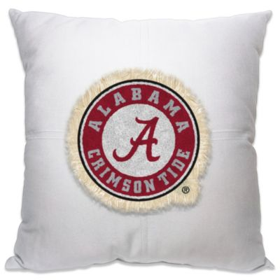 University of Alabama Letterman 18-Inch Square Throw Pillow