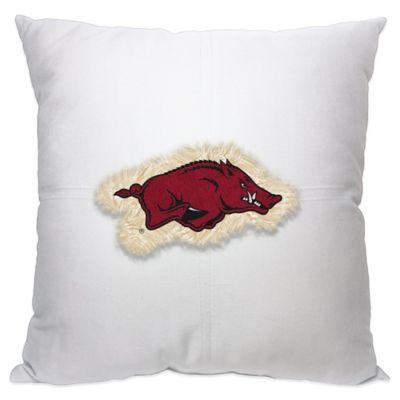 University of Arkansas Letterman 18-Inch Square Throw Pillow