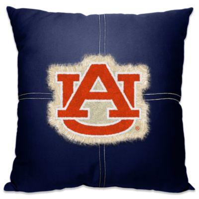 Auburn University Letterman 18-Inch Square Throw Pillow