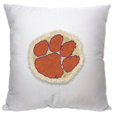 Clemson University Letterman 18-Inch Square Throw Pillow