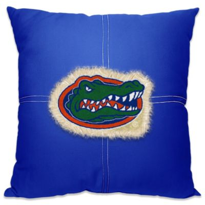 University of Florida Letterman 18-Inch Square Throw Pillow