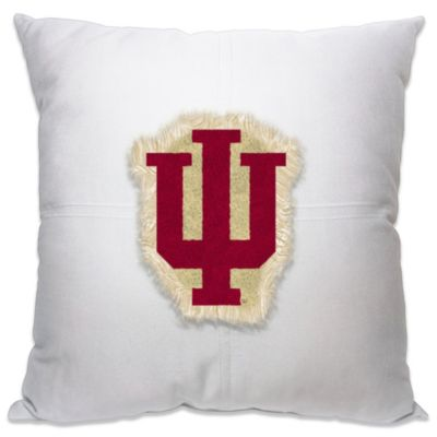 Indiana University 18-Inch Letterman Throw Pillow