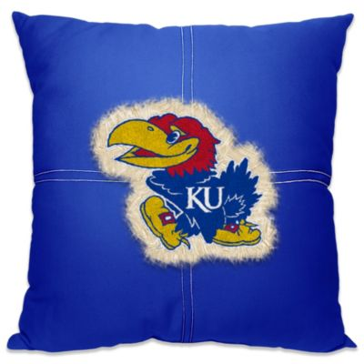 University of Kansas Letterman 18-Inch Square Throw Pillow