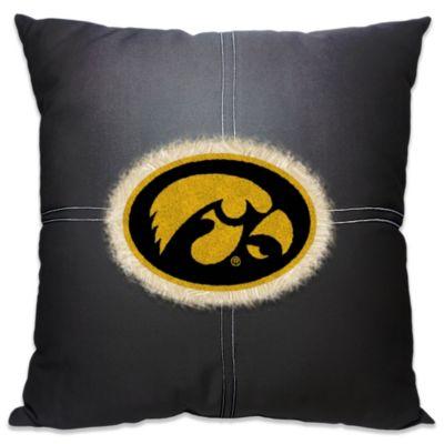 University of Iowa 18-Inch Letterman Throw Pillow