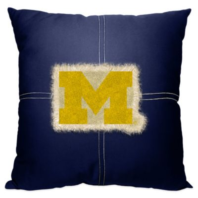 University of Michigan 18-Inch Letterman Throw Pillow