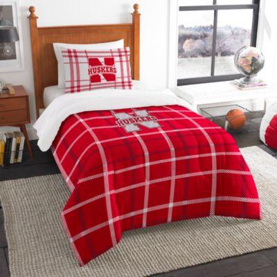 University of Nebraska Twin Embroidered Comforter Set