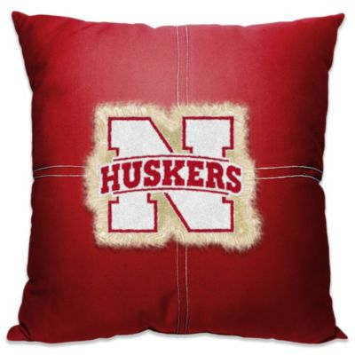 University of Nebraska 18-Inch Letterman Toss Pillow