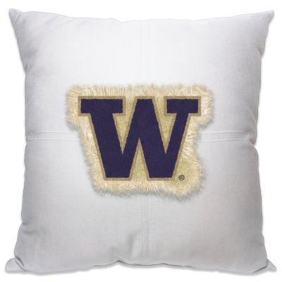 University of Washington 18-Inch Letterman Throw Pillow