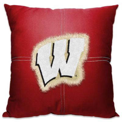 University of Wisconsin 18-Inch Letterman Throw Pillow