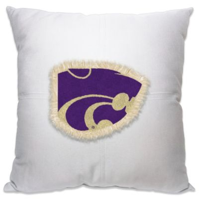 Kansas State University 18-Inch Letterman Throw Pillow