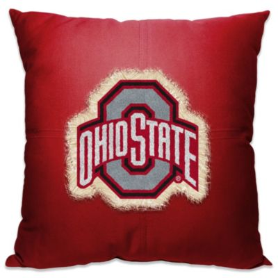 Ohio State University 18-Inch Letterman Throw Pillow