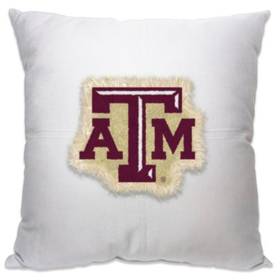 Texas A&M University 18-Inch Letterman Throw Pillow
