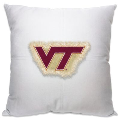 Virginia Tech 18-Inch Letterman Throw Pillow