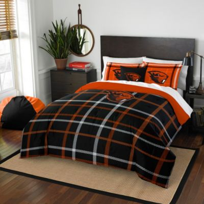 Oregon State University Full Embroidered Comforter Set