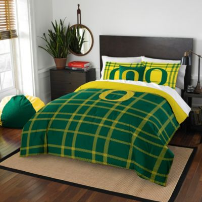 University of Oregon Twin Embroidered Comforter Set