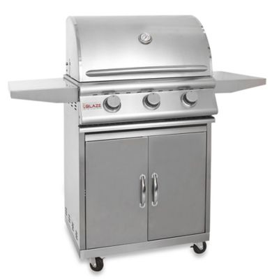 Blaze Outdoor Products 3-Burner Built-In Propane Gas Grill Cart