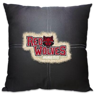 Arkansas State University 18-Inch Letterman Throw Pillow
