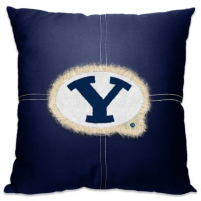 Brigham Young University 18-Inch Letterman Throw Pillow