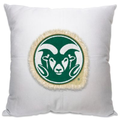Colorado State University 18-Inch Letterman Throw Pillow