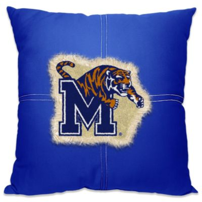 University of Memphis 18-Inch Letterman Throw Pillow
