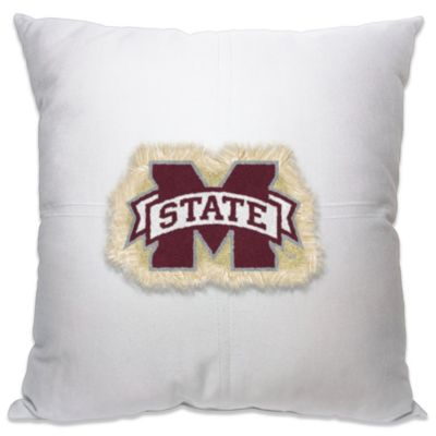 Mississippi State University 18-Inch Letterman Throw Pillow