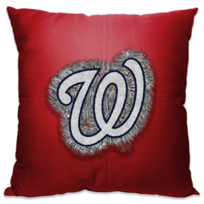 MLB Washington Nationals 18-Inch Letterman Toss Pillow