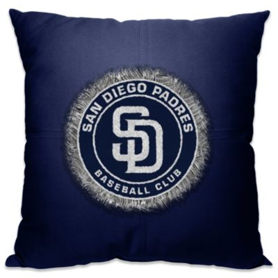 MLB San Diego Padres 18-Inch Letterman Throw Pillow
