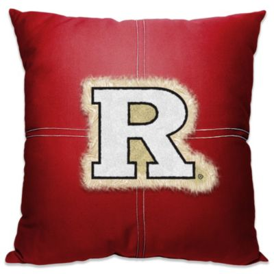 Rutgers University 18-Inch Letterman Throw Pillow