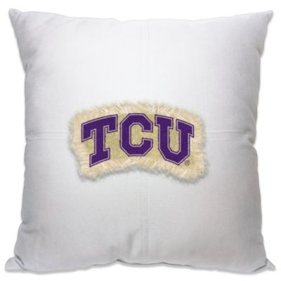 Texas Christian University 18-Inch Letterman Throw Pillow