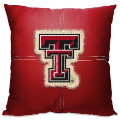 Texas Tech University 18-Inch Letterman Throw Pillow