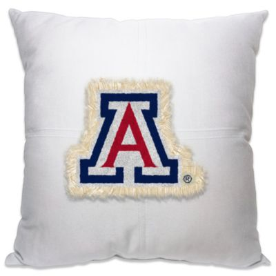 University of Arizona 18-Inch Letterman Throw Pillow