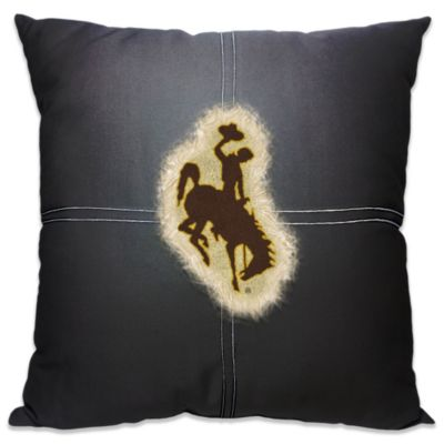 University of Wyoming 18-Inch Letterman Throw Pillow