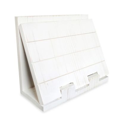 White Wood Napkin Holder