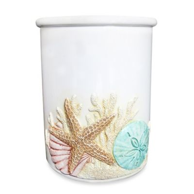 Beach-Themed Utensil Crock
