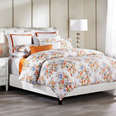 Bellora® Padova King Duvet Cover in White/Coral