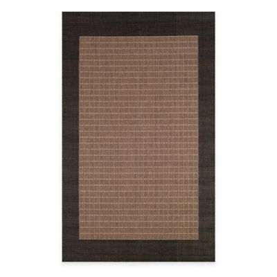 Couristan® 2-Foot 3-Inch x 11-Foot 9-Inch Checkered Field Runner in Cocoa/Black