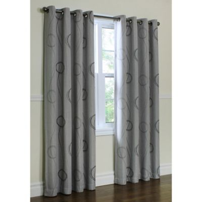 Thermalogic® Brooke Printed Grommet 84-Inch Window Panel in Grey