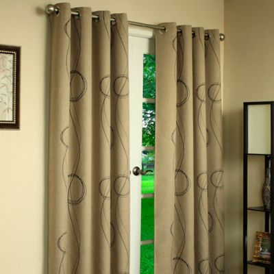 Commonwealth Home Fashions Thermalogic® Brooke Printed Grommet 84-Inch Window Panel in Beige