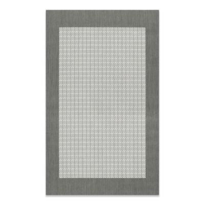 Couristan® 3-Foot 9-Inch x 5-Foot 5-Inch Checkered Field Rug in Grey/White