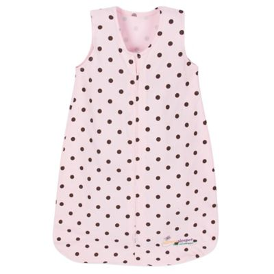 Miracle Blanket® Small Miracle Sleeper in Pink with Chocolate Polka Dots