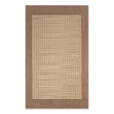 Couristan® 5-Foot 3-Inch x 7-Foot 6-Inch Checkered Field Rug in Natural/Cocoa