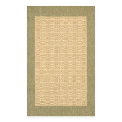 Couristan® 3-Foot 9-Inch x 5-Foot 5-Inch Checkered Field Rug in Natural/Green