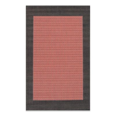 Couristan® 2-foot 3-Inch x 11-Foot 9-Inch Checkered Field Runner in Terracotta/Black