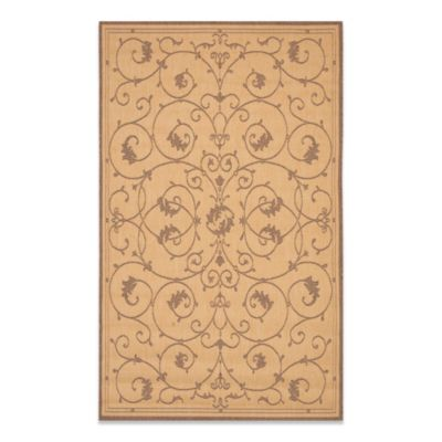 Couristan® Veranda 5-Foot 9-Inch x 9-Foot 2-Inch Indoor/Outdoor Rug in Natural/Cocoa