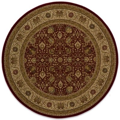 Momeni Royal 7-Foot 10-Inch Round RY-02 Rug in Red