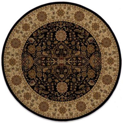 Momeni Black Round Rug