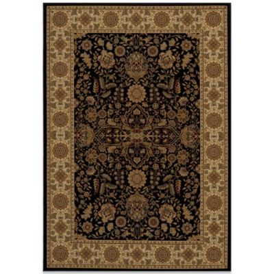 Momeni Royal 3-Foot 11-Inch x 5-Foot 7-Inch RY-03 Rug in Black