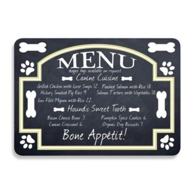Bungalow Flooring 22-Inch x 31-Inch Bistro Menu Kitchen Mat