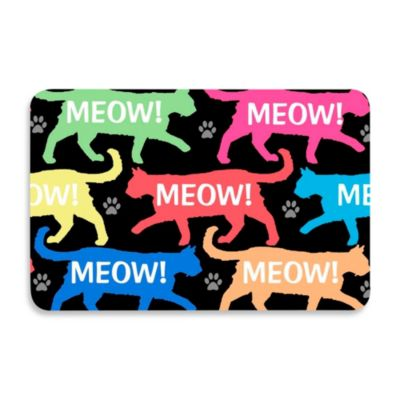 Bungalow Flooring 18-Inch x 27-Inch Meow! Kitchen Mat